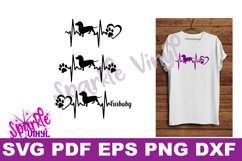 Svg dachshund heartbeat dog print printable or cut file svg bundle dxf eps pdf png files cricut silhouette dachshund gift for dog lover dachshund Product Image 3
