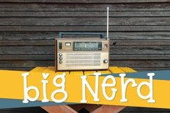 Big Nerd - A Silly Hand Lettered Serif Font Product Image 1