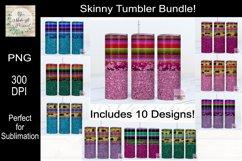 Leopard, Serape and Glitter Sublimation Tumbler Bundle Product Image 1