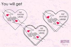 Long distance love svg, Valentines svg Product Image 5