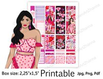"""Galentine's Day Printable Sticker Box Size 2,25""""x1,5"""" Product Image 6"""
