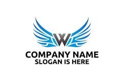 W letter logo design . Angel wing vector letter logo design Product Image 1