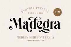 Madegra Serif 9 Weight Font Styles Product Image 1
