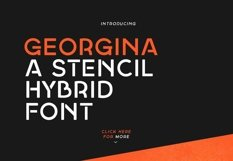 Georgina - A Stencil Hybrid font Product Image 1