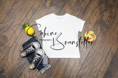Mockup Boy Kid's White Summer T-shirt Photography Product Image 1