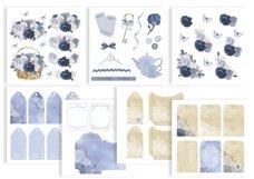 Journaling Scrapbooking Cardmaking Kit Blue Product Image 4