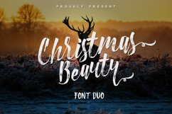 Christmas Beauty Font Duo Product Image 1
