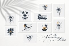 50 Logos & Badges. Vacation Time Product Image 6