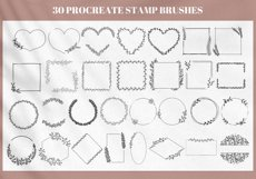 30 Floral Wreath Brush for Procreate, Flower Brushes Stamps Product Image 2