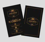 Vertical Black Business Cards Product Image 3