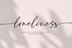 Loneliness Romantic script Product Image 2