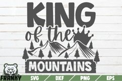 King of the mountains SVG | Printable cut file Product Image 1