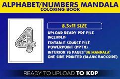 Alphabet & Numbers Mandala Coloring Book | KDP Interior Product Image 2