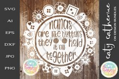 Nanas Are Like Buttons They Hold It All Together SVG Product Image 1