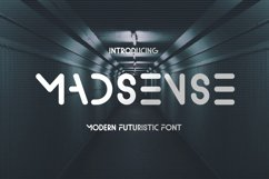 Madsense - Modern Futuristic Font Product Image 1