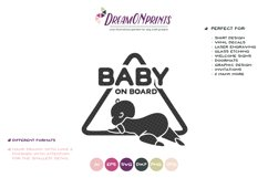 Baby on Board SVG Cut File Product Image 2