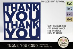 Thank You Card SVG - Thanks Card Cutting File, DXF, PNG, EPS Product Image 4