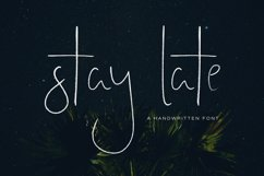 Stay Late - A Handwritten Font Product Image 1