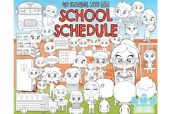 School Schedule Digital Stamps - Lime and Kiwi Designs Product Image 1
