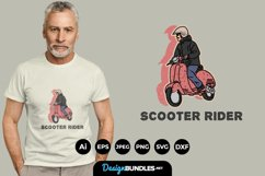 Scooter Rider for T-Shirt Design Product Image 1
