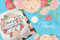 Peony Poem - Tea Time with swans & flowers Product Image 6