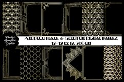 Art Deco Gold Foil and Black Digital Papers, Gatsby Style Product Image 1