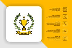 Trophy Award Logo Template Product Image 1