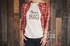 T-Shirt Mockup, Shirt Mock Up on Woman JPG Product Image 1