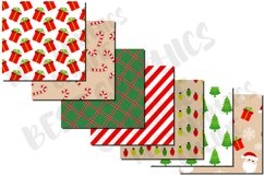 Christmas pattern digital paper set, Candy cane, Santa claus Product Image 2