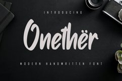 Onether - Modern Handwritten Font Product Image 1