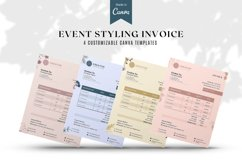 Event Styling Invoice template, 4 Styles Canva Template Product Image 1