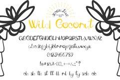 Fresh Wild Coconut decorative FONT Product Image 3