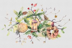 Christmas bouquet Watercolor png Product Image 2