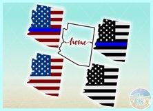 Arizona USA American Police Flag Patriotic Back The Blue SVG Product Image 2