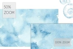 20 Huge Seamless Blue Watercolor Textures Product Image 4