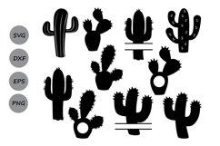 Cactus svg, cactus clipart, Cactus Monogram Svg. Product Image 2