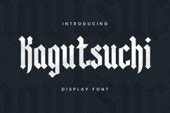 Web Font KAGUTSUCHI Font Product Image 1