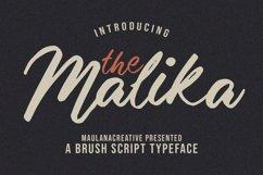 Malika Brush Script Typeface Product Image 1
