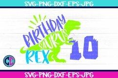 Birthday svg, Boy Ten Rex Svg Product Image 1