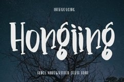 Web Font Hongiing - Fancy Handwritten Serif Font Product Image 1