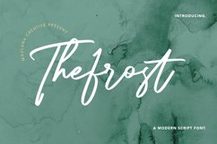 Thefrost Modern Script Font Product Image 1