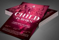 A Child is Born Church Flyer Template Product Image 5