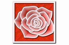 Layered Mandala SVG, Cut file Mandala, Layered Flower, Rose Product Image 7