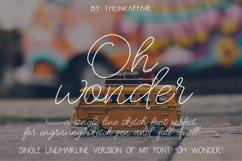 Oh Wonder - a single line, hairline sketch pen font Product Image 1
