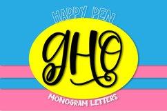 Happy Pen - A Monogram Font Product Image 1