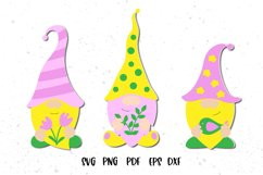 Spring Gnomes SVG. Gnome Cut Files. Product Image 1