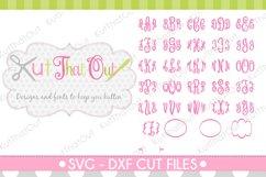 Empress Monogram Font SVG & DXF Cut File Product Image 3