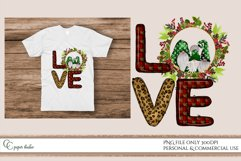 LOVE PNG - sublimation design - Christmas gnome wreath green Product Image 2