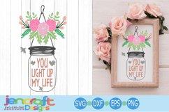 Wedding Svg, Bride Groom Reception design, Floral Jar svg Product Image 1