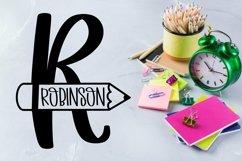 Web Font Teacher Pencil Monogram Split Font Product Image 3